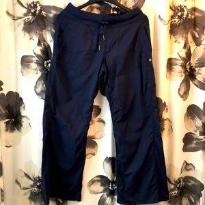 GUC navy Lulu dance studio pants, unlined 10